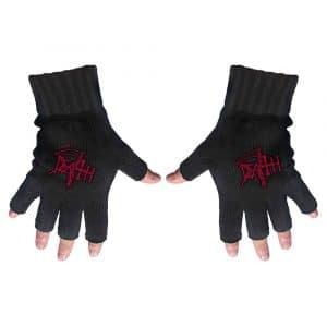 Death Unisex Fingerless Gloves: Logo