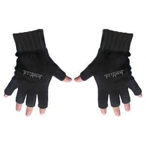 Testament Unisex Fingerless Gloves: Logo