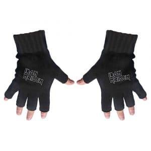 Iron Maiden Unisex Fingerless Gloves: Logo