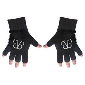 Black Veil Brides Unisex Fingerless Gloves: Logo