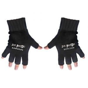 The Sex Pistols Unisex Fingerless Gloves: Nowhere & Boredom