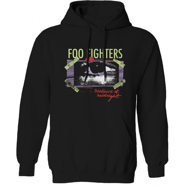 Foo Fighters Mens Pullover Hoodie: Medicine At Midnight Taped (XX-Large)