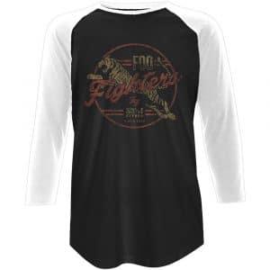 Foo Fighters Mens Raglan T-Shirt: Tiger (XX-Large)