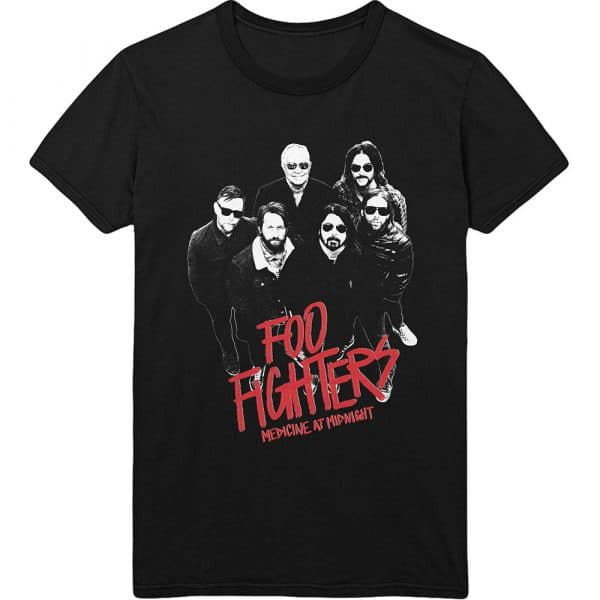 Foo Fighters Mens T-Shirt: Medicine At Midnight Photo (XX-Large)