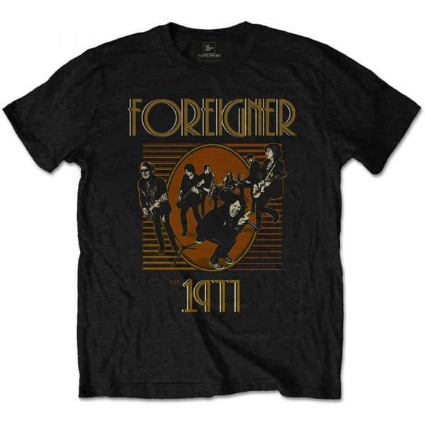 Foreigner Mens T-Shirt: Est' 1977 (XX-Large)