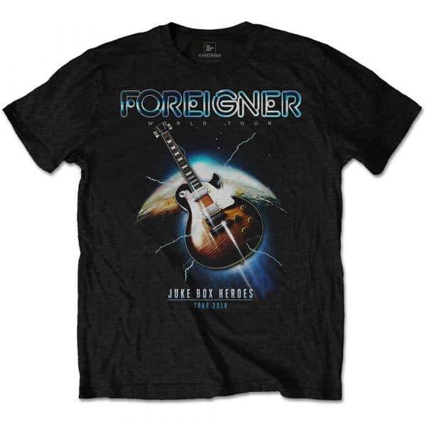 Foreigner Mens T-Shirt: Juke Box Heroes (XX-Large)