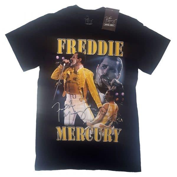 Freddie Mercury Mens T-Shirt: Live Homage (XX-Large)