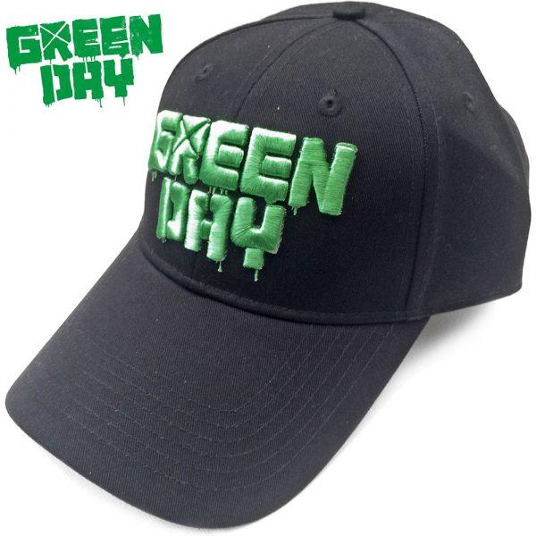 Green Day Baseball Cap: Dripping Logo