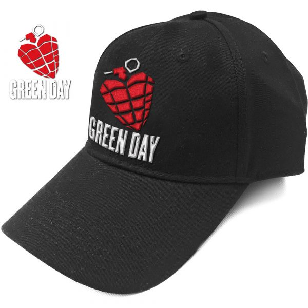 Green Day Baseball Cap: Grenade Logo