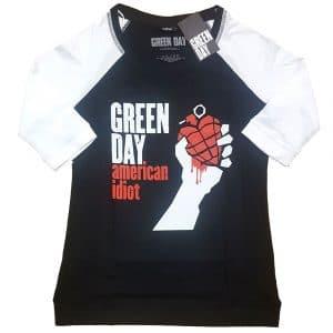 Green Day Ladies Raglan T-Shirt: American Idiot (XXXX-Large)