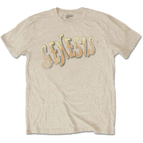 Genesis Mens T-Shirt: Vintage Logo - Golden (XX-Large)