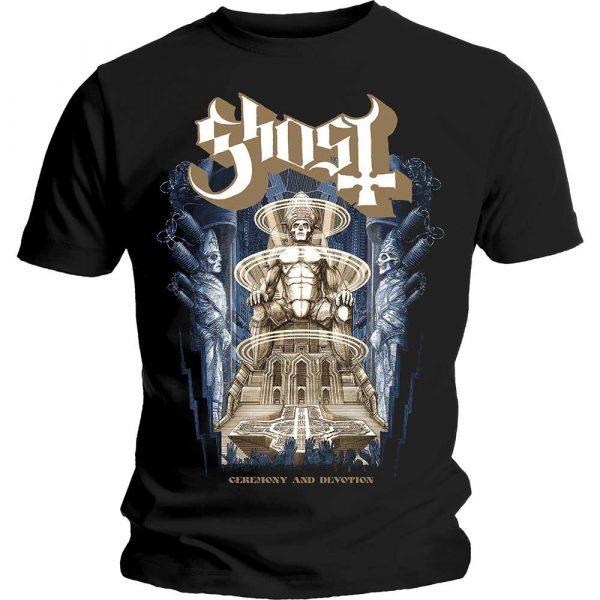 Ghost Mens T-Shirt: Ceremony & Devotion (XX-Large)