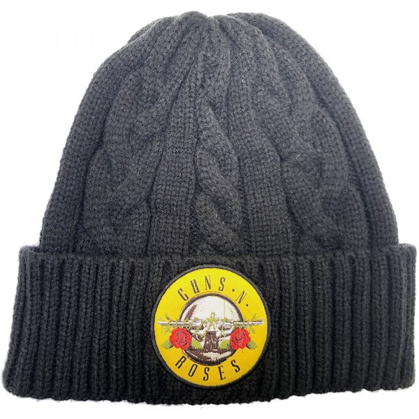 Guns N' Roses Unisex Beanie Hat: Circle Logo (Cable Knit)