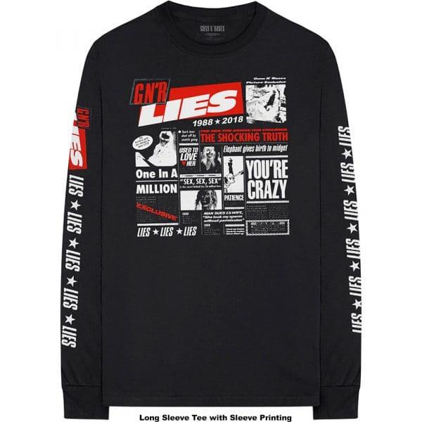 Guns N' Roses Mens Long Sleeved T-Shirt: Lies Cover (Arm Print) (XX-Large)
