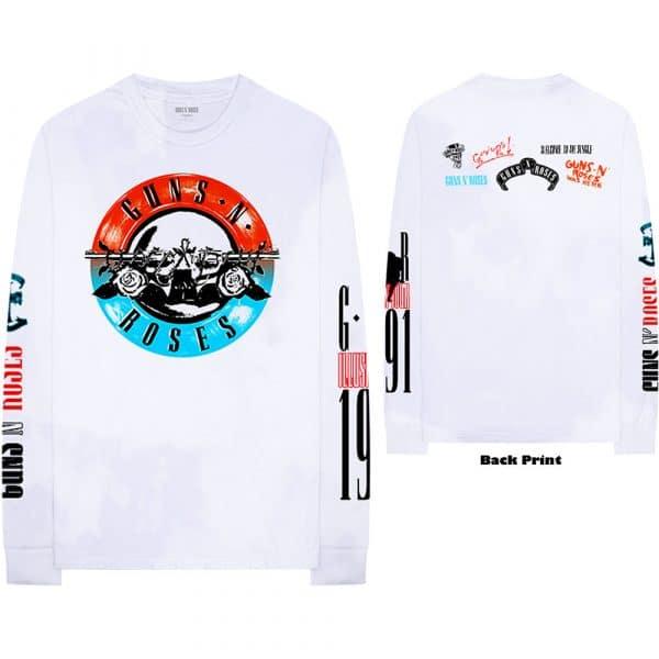 Guns N' Roses Mens Long Sleeved T-Shirt: Motorcross Logo (Back & Arm Print) (XX-Large)