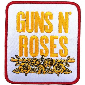 Guns N' Roses Standard Patch: Stacked White