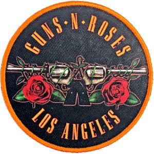 Guns N' Roses Standard Patch: Los Angeles Orange