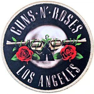 Guns N' Roses Standard Patch: Los Angeles Silver
