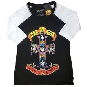 Guns N' Roses Ladies Raglan T-Shirt: Appetite For Destruction (XXXX-Large)