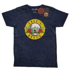 Guns N' Roses Mens T-Shirt (Snow Wash): Classic Logo (XX-Large)