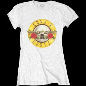 Guns N' Roses Ladies T-Shirt: Classic Bullet Logo (Skinny Fit) (XX-Large)