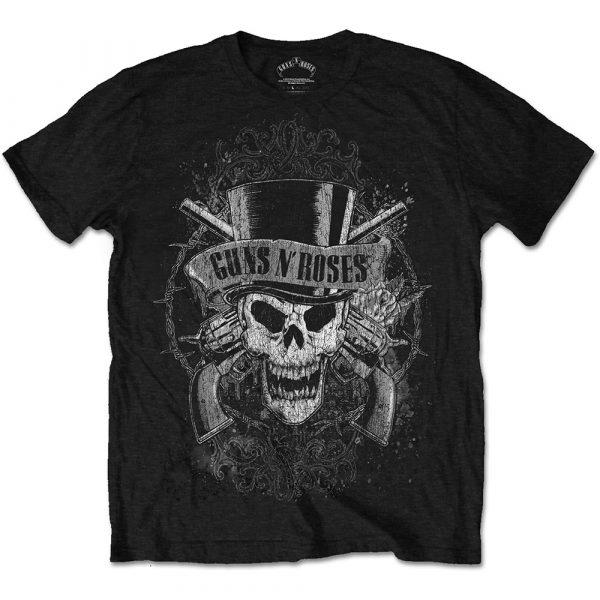 Guns N' Roses Mens T-Shirt: Faded Skull (XX-Large)