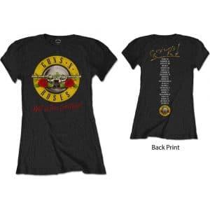 Guns N' Roses Ladies T-Shirt: Not In This Lifetime Tour (Back Print) (XX-Large)