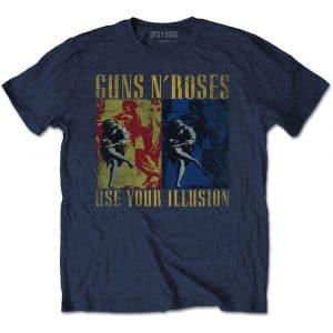 Guns N' Roses Mens T-Shirt: Use Your Illusion Navy (XX-Large)