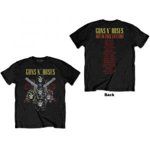 Guns N' Roses Mens T-Shirt: Pistols & Roses (Back Print) (XX-Large)