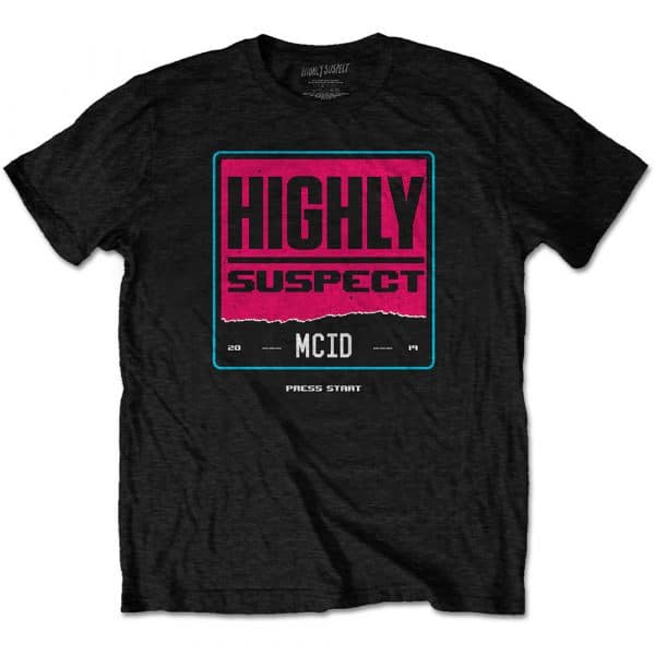 Highly Suspect Mens T-Shirt: Press Start (XX-Large)