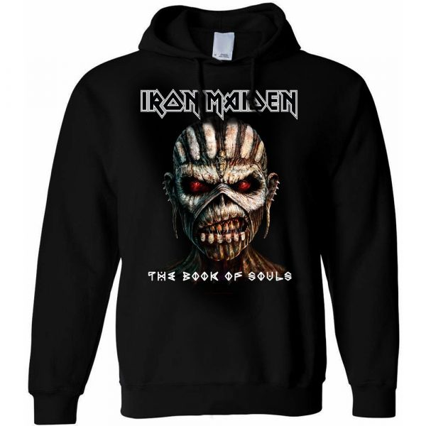 Iron Maiden Mens Pullover Hoodie: The Book of Souls (XX-Large)