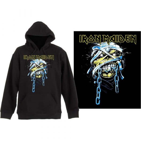 Iron Maiden Mens Pullover Hoodie: Powerslave (XX-Large)