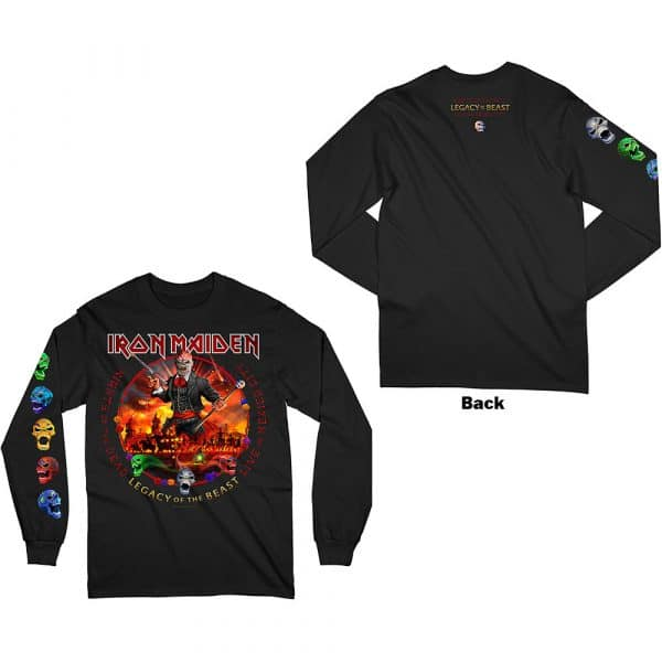 Iron Maiden Mens Long Sleeved T-Shirt: Nights Of The Dead (Arm & Back Print) (XX-Large)
