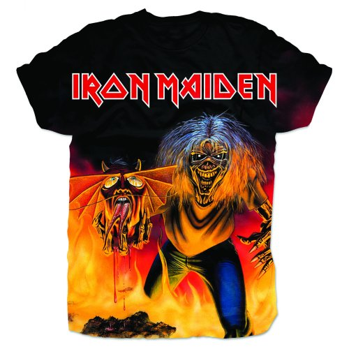Iron Maiden Mens T-Shirt: Number of the Beast (Sublimated)