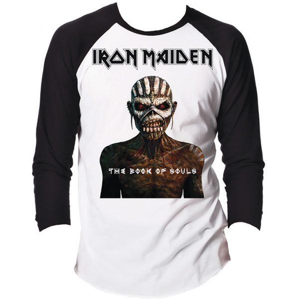Iron Maiden Mens Raglan T-Shirt: The Book of Souls (XX-Large)
