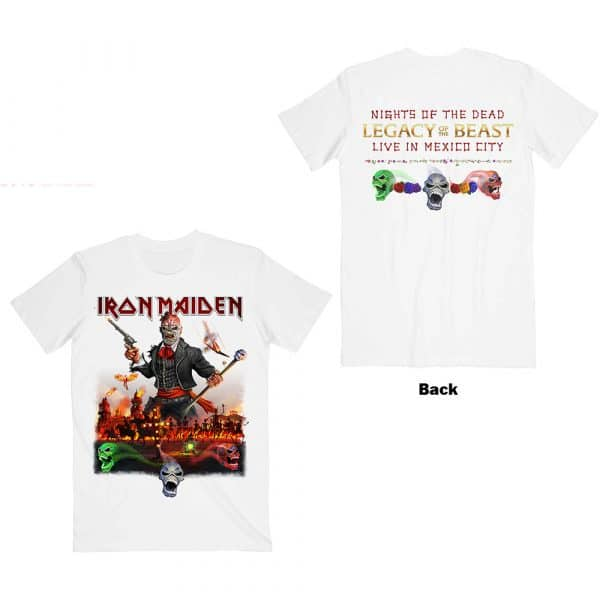 Iron Maiden Mens T-Shirt: Legacy of the Beast Live In Mexico City (Back Print) (XX-Large)