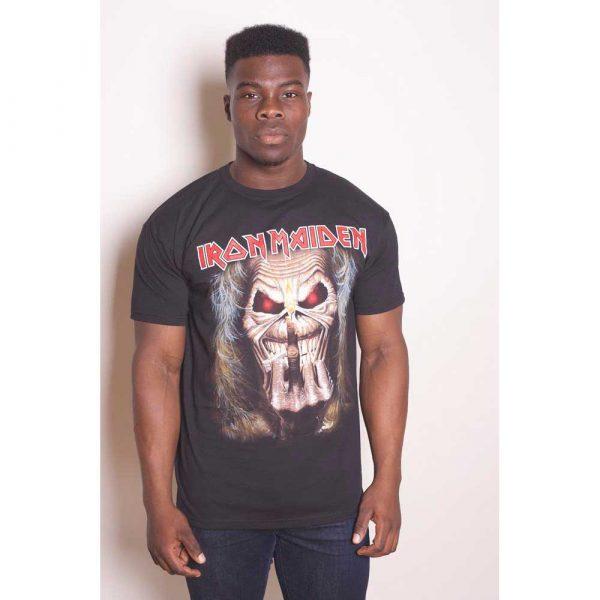 Iron Maiden Mens T-Shirt: Eddie Candle Finger (XX-Large)