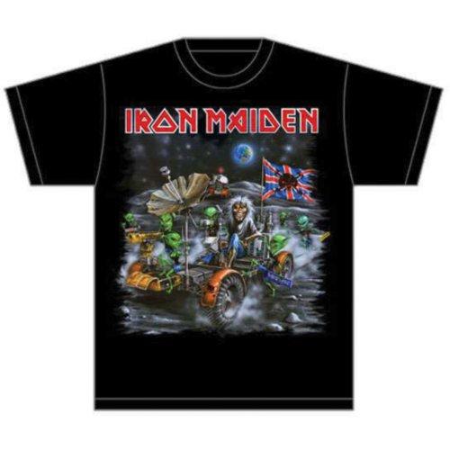 Iron Maiden Mens T-Shirt: Knebworth Moon buggy (XX-Large)
