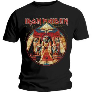 Iron Maiden Mens T-Shirt: Powerslave Lightning Circle (XX-Large)
