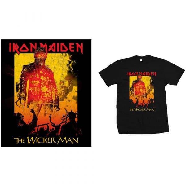 Iron Maiden Mens T-Shirt: The Wicker Man Fire (XX-Large)