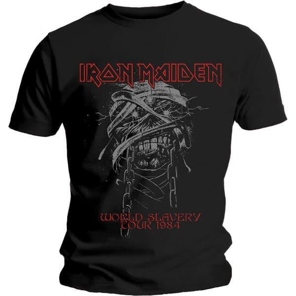 Iron Maiden Mens T-Shirt: World Slavery 1984 Tour (XX-Large)