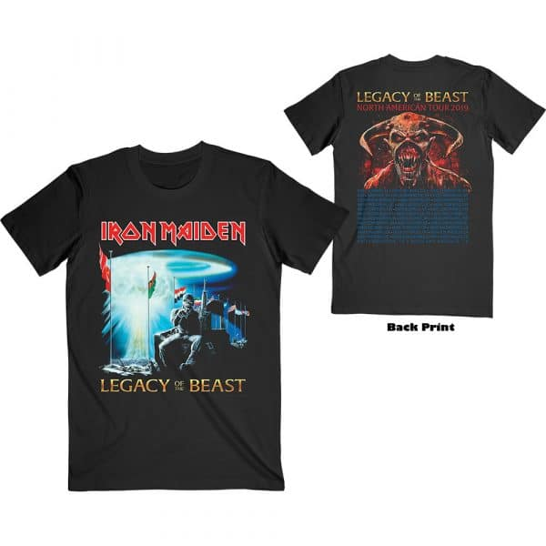 Iron Maiden Mens T-Shirt: Two Minutes to Midnight (Back Print) (XX-Large)