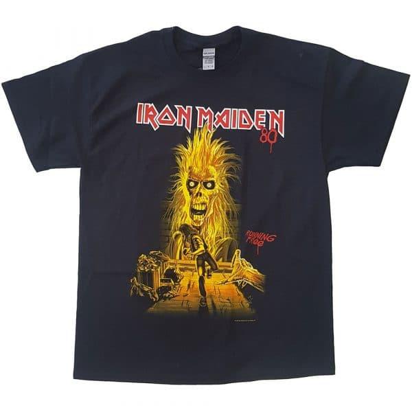 Iron Maiden Mens T-Shirt: Running Free (XX-Large)
