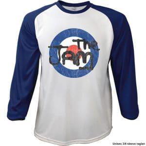 The Jam Mens Raglan T-Shirt: Target Logo Distressed (XX-Large)