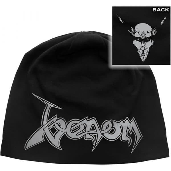 Venom Unisex Beanie Hat: Black Metal (Back Print)