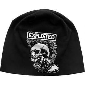 The Exploited Unisex Beanie Hat: Mohican Skull