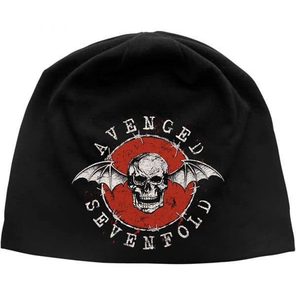 Avenged Sevenfold Unisex Beanie Hat: Distressed Bat
