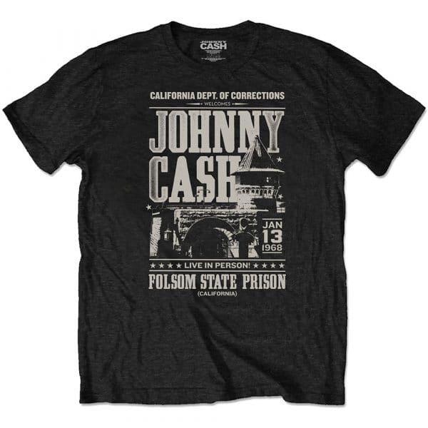 Johnny Cash Mens Eco-T-Shirt: Prison Poster (XX-Large)