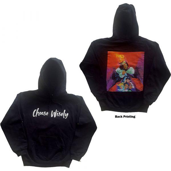 J Cole Mens Pullover Hoodie: Choose Wisely (Back Print) (X-Large)