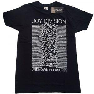 Joy Division Mens T-Shirt: Unknown Pleasures White On Black (XX-Large)